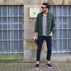 how to wear stripe t shirt for men. #mens #fashion #style