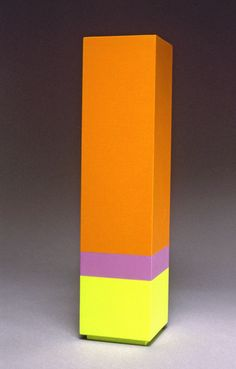 Parva XXIX. Anne Truitt (1921-2004) was a major American artist whose sculptures were significant to the development of Minimalism Aggressively plain & painted structures, often large, they were fabricated from wood & painted  with monochromatic layers of acrylic, to resemble sleek, rectangular columns. She applied multiple coats, alternating brushstrokes between horizontal & vertical directions and sanding between layers to remove any trace of her brush.