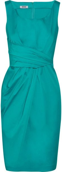 Moschino Cheap & Chic Stretchcotton Shift Dress in Blue (teal) - Lyst