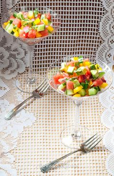 ArtandtheKitchen: Cucumber Watermelon Summer Salad
