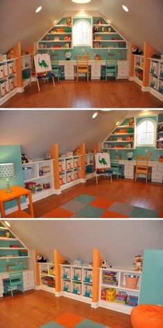 THIS would be a terrific quilt room!  But I'd enlarge that window on the end or add more windows.....