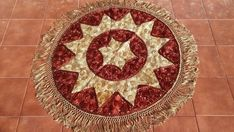 Round Hungarian Matyo Silk Embroidered tablecloth gold and brown colors    eBay