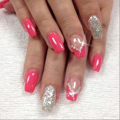 Pretty glitter nail art design idea for summer, short nail art . - Pretty glitter nail art design idea for summer, short nails nail art – Nails – - Orange Nail Designs, Pretty Nail Designs, Diy Nail Designs, Pretty Nail Art, Short Nail Designs, Beautiful Nail Art, Short Nails Art, Glitter Nail Art, Halloween Nails