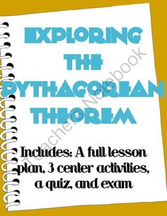 Exploring the Pythagorean Theorem from The Bad Apple on TeachersNotebook.com - (20 pages) - This is the perfect Common Core way to introduce your students to the Pythagorean Theorem using proofs and derivation! Let them explore and derive the Pythagorean Theorem themselves. They will never forget what it is, or why it works.