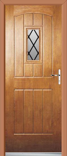 Cottage Style Exterior Doors | uPVC Doors English Cottage Diamond Lead Light Oak | uPVC Front Doors ...