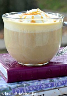 Adding pumpkin and caramel to this easy homemade Salted Caramel Pumpkin Latte…