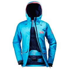 HELLY HANSEN WOMEN'S POWDERQUEEN JACKET Rule the mountain in this longer relaxed freeride jacket. Skiing & Snowboarding