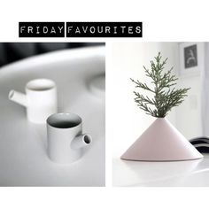 """""""Friday Favourites Serax"""" by flor-linckens on Polyvore For this week's Friday Favourites I've selected two items from the Belgium brand Serax. The cups are designed by Catherine Lovatt and the Fuji Vase is designed by Studiotoer. I love their simplicity!"""