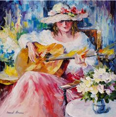 Acoustic Music - oil painting by Leonid Afremov by Leonidafremov.deviantart.com on @DeviantArt
