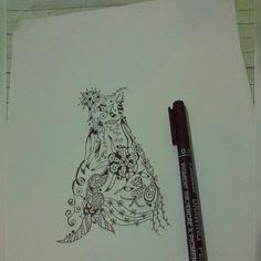 doodle flower dress.. yuhuuu fashion art