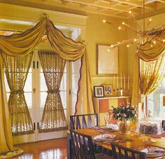 Like these window treatments for living room