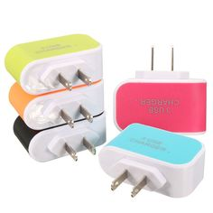 US 3.1A 3 USB Port LED Travel AC Home Wall Power Adapter Charger For Tablet