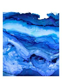 Triptych of Undercurrent Snorkel Blue Inks by versoPRINTS on Etsy