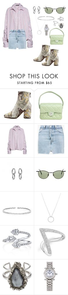 """Untitled #632"" by ga-gs ❤ liked on Polyvore featuring Maison Margiela, Chanel, Y/Project, Vetements, Calvin Klein, Suzanne Kalan, Roberto Coin, Anne Sisteron, Alexander McQueen and Chopard"