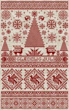 Love this Scandinavian Christmas pattern.