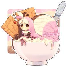 Chibi by on DeviantArt Naruto Chibi, Chibi Manga, Chibi Bts, Manga Kawaii, Cute Anime Chibi, Kawaii Chibi, Cute Food Drawings, Cute Kawaii Drawings, Arte Do Kawaii