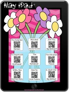 May Stories iPad QR Codes~Scan for Listening Center with a Twist!