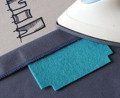 Felt ironing guide