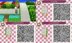 "Animal Crossing New Leaf : Events & Happy Home Designers: ACNL & ACHHD : Motifs Sols ""Rue"" / QR Codes"