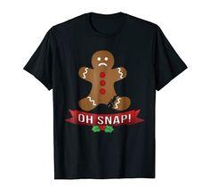 Gingerbread Man Xmas Tshirt Oh Snap Funny Christmas T-Shirt Gingerbread Man Christmas Amazon Christmas, Xmas, Christmas Gingerbread Men, Shirt Price, Christmas Humor, Branded T Shirts, Fashion Brands, Mens Tops, Christmas