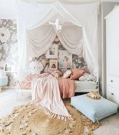 Home Tour: A Childrens Bohemian Wonderland Big Girl Rooms Bohemian Childrens Home Tour Wonderland Big Girl Bedrooms, Little Girl Rooms, Girls Bedroom, Bedroom Decor, Bedroom Ideas, Room Girls, Bedroom Rustic, Ikea Minnen Bed, Ikea Bed