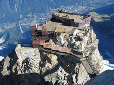 Aiguille du Midi, Chamonix, France - rode cable cars to reach this viewing platform to see Mont Blanc