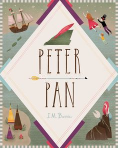peter pan book cover - would look great framed in a series of other childrens bookd