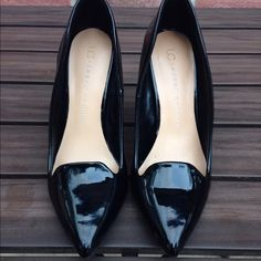 Lauren Conrad Heels Patent black // minor scruff * see third pic // size 6 // worn a couple of times, great condition Lauren Conrad Shoes Heels