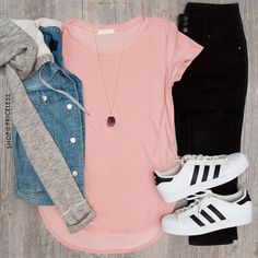 casual adidas outfit, 22 outfit ideas to try this spring http://www.justtrendygirls.com/22-outfit-ideas-to-try-this-spring/