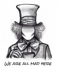 hatter, alice, and alice in wonderland image -mad hatter, alice, and alice in wonderland image - Alice in Wonderland Lynn Harri . Tattoo uploaded by Federico Galdangelo Art Drawings Sketches Simple, Dark Art Drawings, Pencil Art Drawings, Cute Drawings, Music Drawings, Drawing Drawing, Mad Hatter Drawing, Mad Hatter Tattoo, Alice In Wonderland Drawings