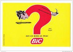 vintage bic pen ad at DuckDuckGo Vintage Advertising Posters, Vintage Advertisements, Vintage Posters, Retro Ads, Saul Bass, Pub Vintage, French Vintage, Bic Pens, Poster