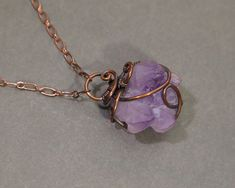 Purple doodly goodness - this awesome little amethyst elestial crystal pendant is now in my shop.  Click the link in my bio or go to doodlepunkart.etsy.com . . . . #amethyst #purple  #wirewrapped  #gemstone #crystal #raw  #jewelry #pendant #necklace  #copper  #boho #rustic #earthy #bohemian  #amulet #talisman #healing #metaphysical  #ooak #whimsical Raw Gemstone Jewelry, Raw Crystal Jewelry, Gems Jewelry, Crystal Pendant, Purple Quartz, Fantasy Jewelry, Wire Wrapped Pendant, Amethyst Crystal, Earthy