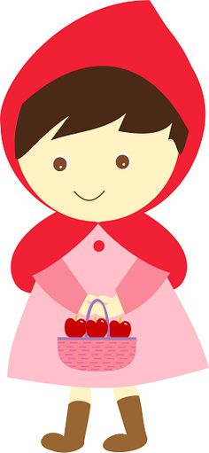 petit chaperon rouge / Little Red Rinding Hood Red Riding Hood Party, Red Ridding Hood, Clip Art, Cute Clipart, Felt Patterns, Cute Images, Felt Animals, Little Red, Paper Dolls