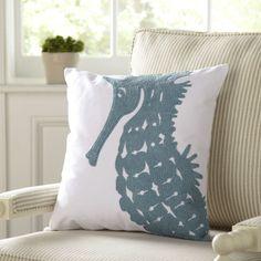Selma Cotton Pillow Cover Cover, Seahorse