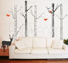 Special Section Forest Animal Tree Wall Sticker Nursery Decal Kids Baby Decor Art Mural Gift Relieving Heat And Sunstroke Baby Home & Garden
