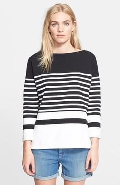 Vince Nautical Stripe Boatneck Top available at #Nordstrom