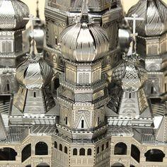 De Piececool San Basilio Cut Láser Catedral DIY 3D Modelos Puzzle