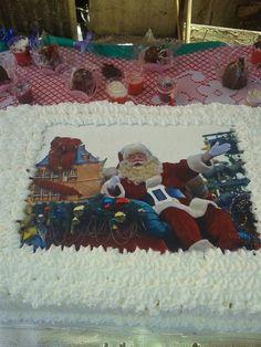 Bolo para festa de Natal das crianças carente do Gardênia