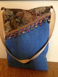 5e1c6c752 Image result for Sew tote bag from recycled denim and upholstery Bolsa De  Mezclilla, Bolsos