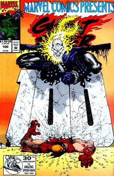 Marvel Comics Presents #100 version #1: Ghost RIder vs. Wolverine by Sam Kieth