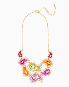 charming charlie | Bollywood Paisley Statement Necklace | UPC: 410007472937 #charmingcharlie