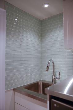 Kitchen backsplash   http://centura.ca/residential/glass-2x10-glass/  Product ID:OPUS101210  Miki 2X10 Glass White Border Glossy