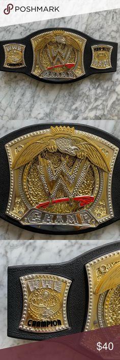 WWE BIG GOLD HEAVYWEIGHT CHAMPIONSHIP ELITE Semi Gloss Figure TITLE BELT WCW B7
