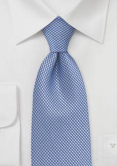 Patterned Hydrangea Blue Tie