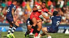 Sio Siua Taukeiaho kicked six goals for Tonga in the Cairns heat  Scotland (0) 4  Try: Addy  Tonga (38) 50  Tries: Jennings 3 Taumalolo Manu Tupou 2 Terepo Hingano  Goals: Taukeiaho 6 Hingano  Scotland suffered a heavy loss to Tonga in their opening Group B match at the World Cup in Cairns.  Hull  Kingston Rovers' Danny Addy scored the Scots' only try but at that  point they trailed 38-0 and the Tongans went on to score two more tries. Despite  Steve McCormack's Bravehearts being ranked…