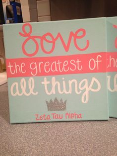 Zeta Love HandPainted Canvas by MadebyMeaganCanvases on Etsy, $30.00