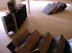 Creative Reuse: Reclaimed Wood Box Stairs