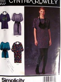 Misses Tunic Pattern or Dress in 2 Lengths by OnceUponAnHeirloom