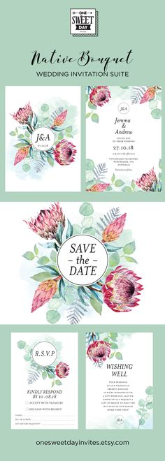 42 ideas for nature wedding invitations leaves Printable Wedding Invitations, Diy Invitations, Wedding Invitation Suite, Wedding Stationery, Engagement Invitations, Invitation Cards, Protea Wedding, Wedding Bouquets, Wedding Flowers