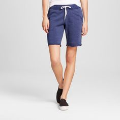 Women's French Terry Bermuda Short Navy (Blue) Xxl - Mossimo Supply Co.